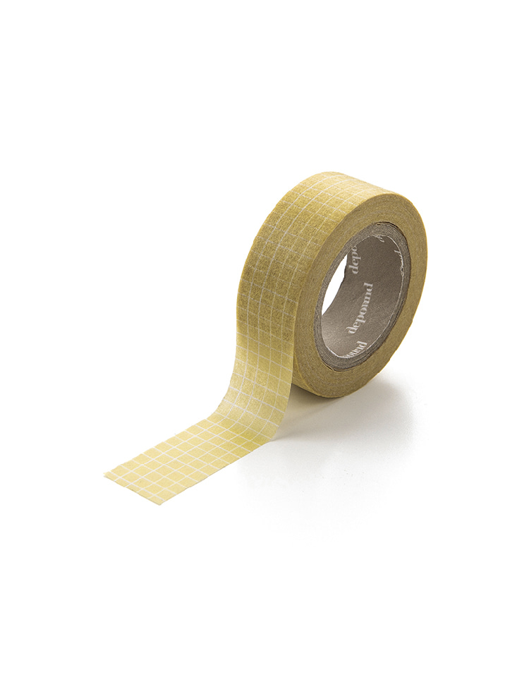 [homepage exclusive]masking tape (grid-yellow)