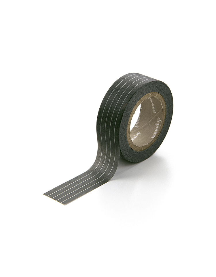 [homepage exclusive]masking tape (stripe-charcoal)