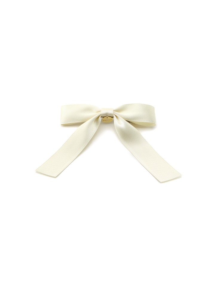 ribbon hair pin - ivory