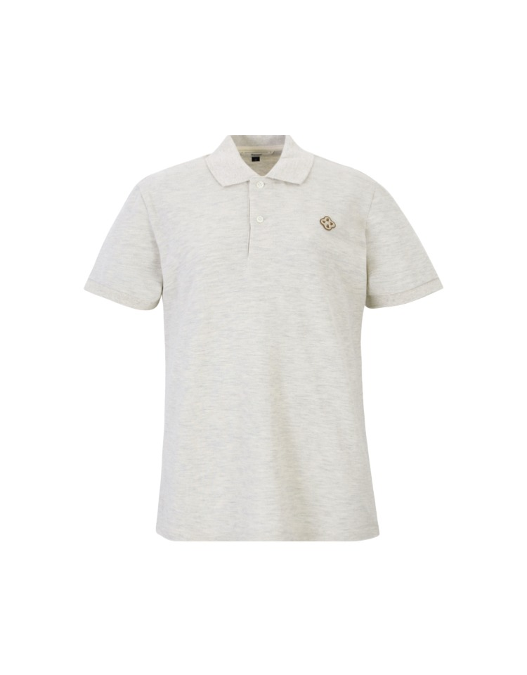 clover polo shirts - oatmeal