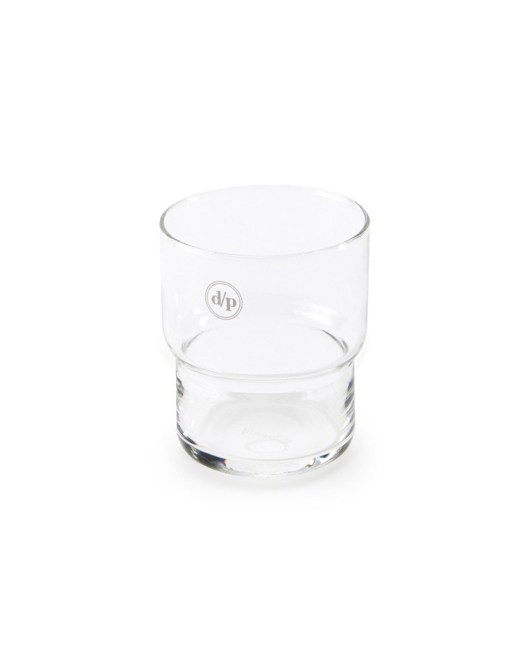 [homepage exclusive] d/p logo glass - white