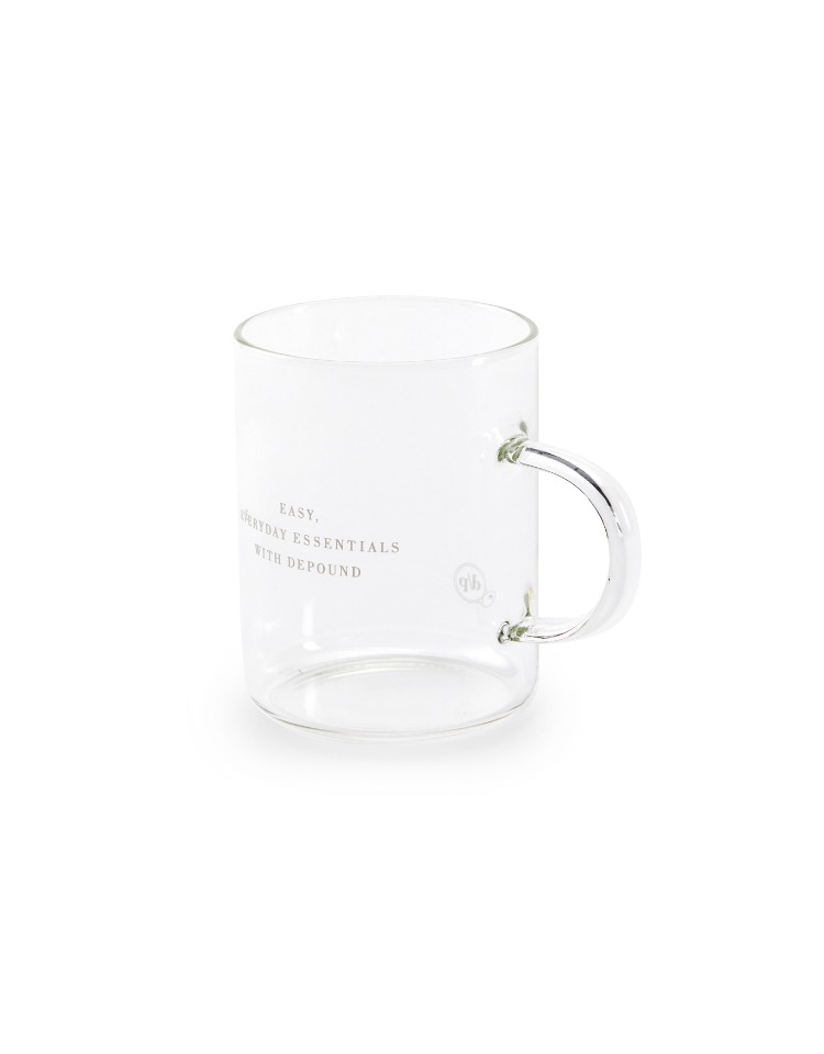 lettering glass mug - white